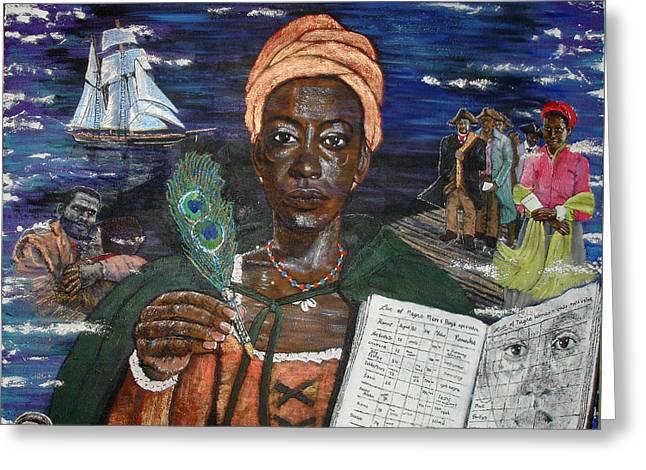 Aminata's Book Of Negroes Greeting Card