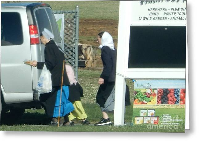 Amish Auction Greeting Card