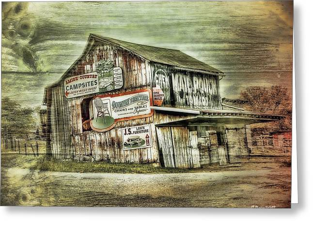 Old Amish Barn Greeting Card by Reese Lewis