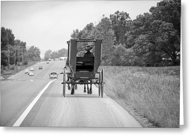 Amish Buggy Greeting Card by Steven Michael