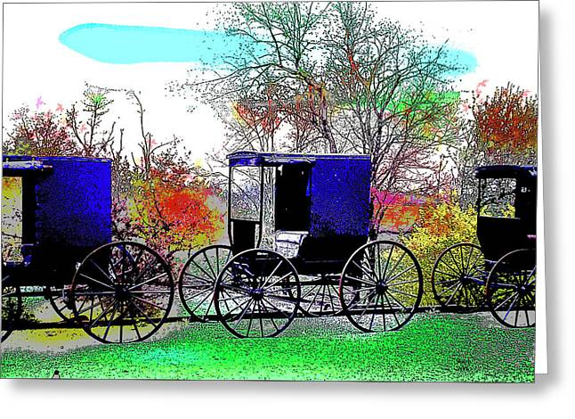 Amish Greeting Card by Charles Shoup