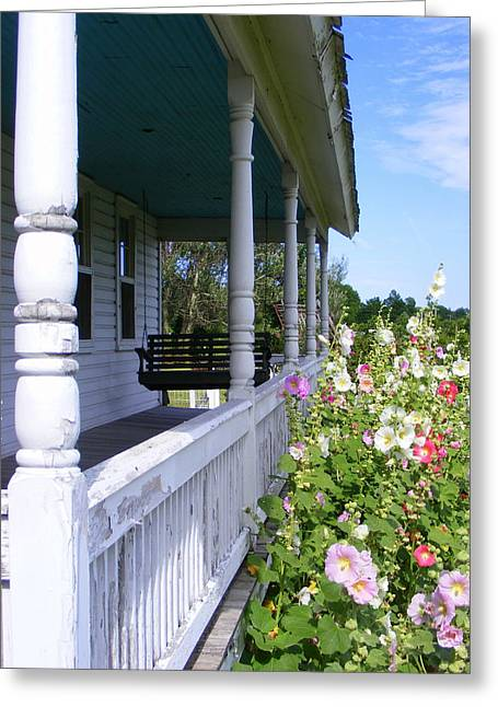 Amish Porch Greeting Card by Ed Smith