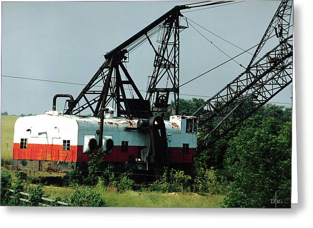 Abandoned Dragline Excavator In Amish Country Greeting Card