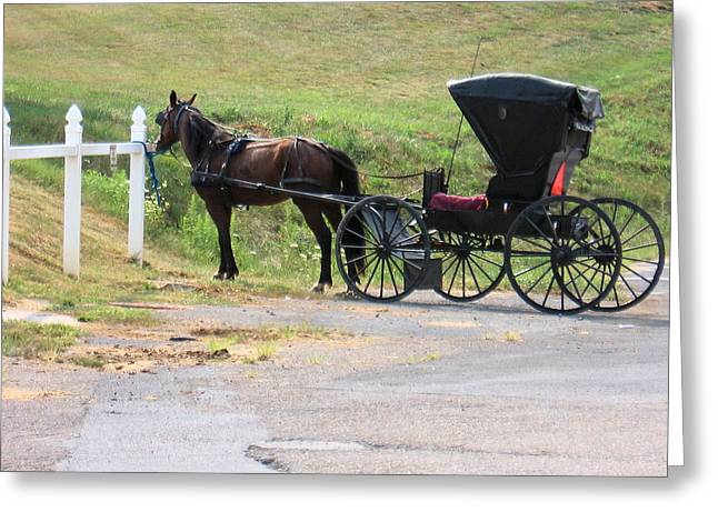 Amish Transportation Greeting Card