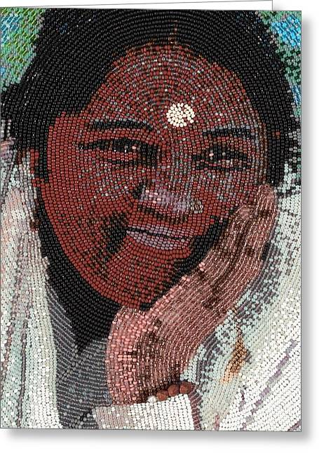 Amma - Close Up Greeting Card by Zoe Byrd