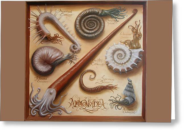 Ammonoidea Greeting Card by Ruth Hulbert