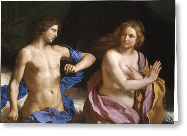 Amnon And Tamar Greeting Card by Giovanni Francesco Barbieri - Called Guercino