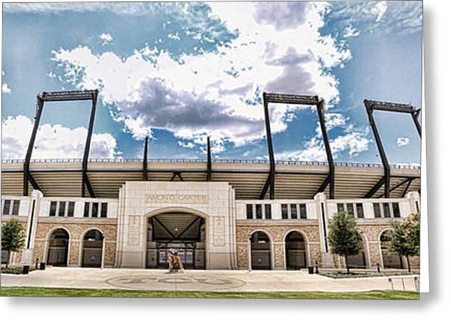 Amon Carter Stadium - Tcu Greeting Card by Stephen Stookey