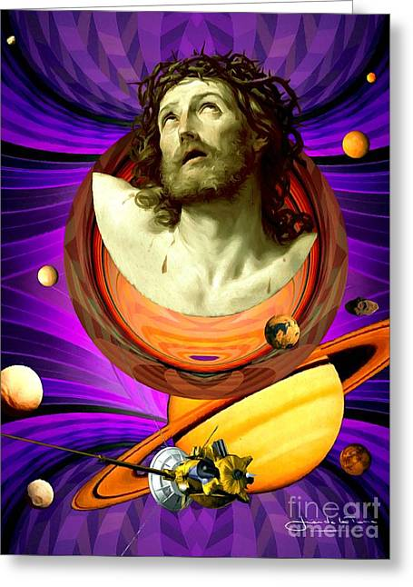 Among Jupiter's Moons Greeting Card by Art Gallery