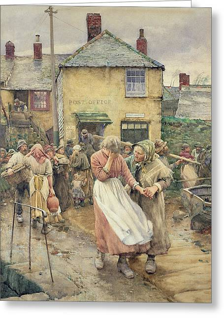 Among The Missing Greeting Card by Walter Langley