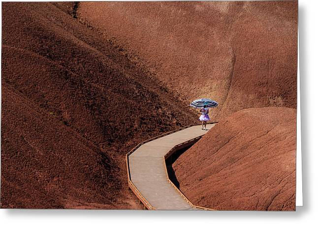 Among The Painted Hills Greeting Card