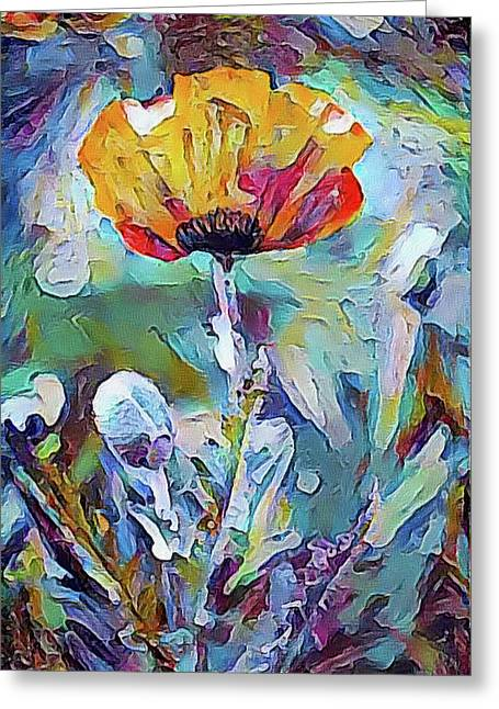 Among The Poppies II Greeting Card