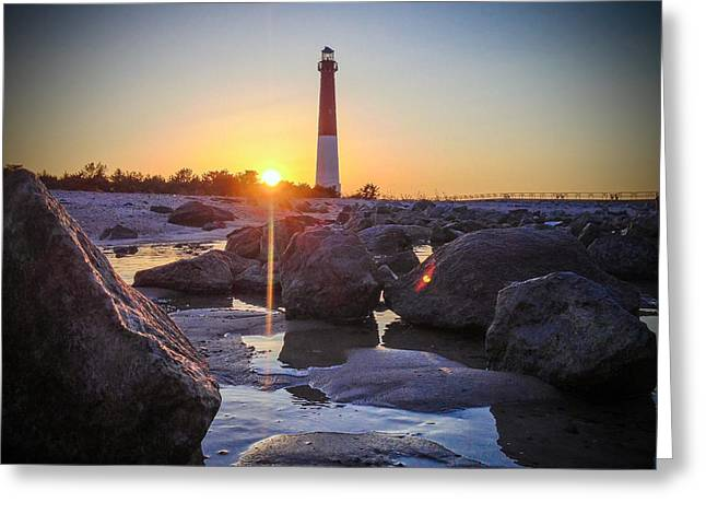 Among The Rocks Greeting Card by Kristopher Schoenleber