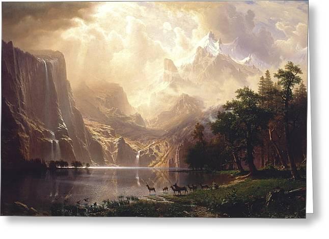 Among The Sierra Nevada, California, 1868 Greeting Card by Albert Bierstadt