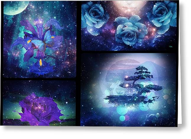Greeting Card featuring the digital art Among The Stars Series by Mo T
