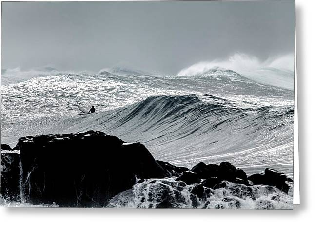 Amongst The Elements Greeting Card by Sean Davey