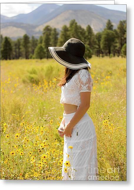Amongst The Prairie Flowers Greeting Card