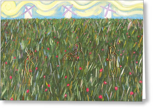 Amongst The Wildflowers Greeting Card