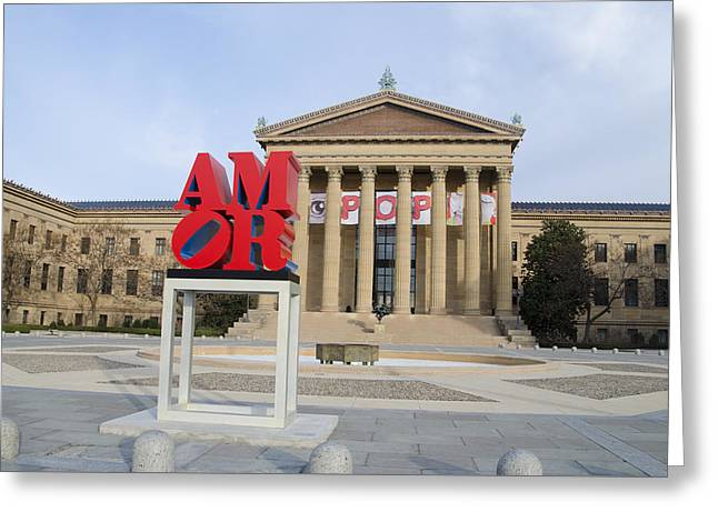Amor Philly Greeting Card by Bill Cannon
