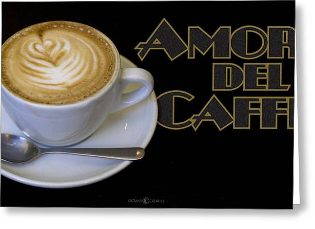 Amore Del Caffe Poster Greeting Card