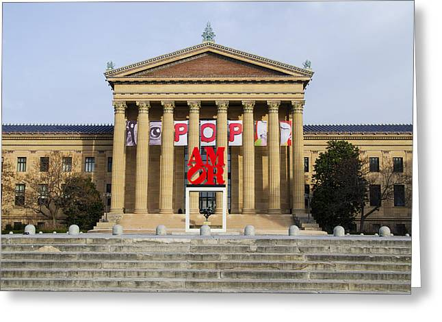 Amore - The Philadelphia Museum Of Art Greeting Card by Bill Cannon