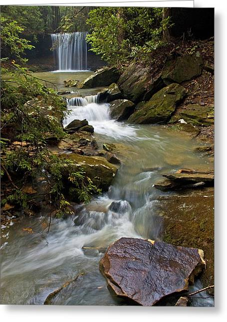 Amos Falls Kentucky Greeting Card