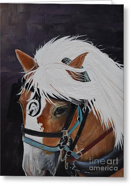 Amos - Haflinger - Horse Greeting Card