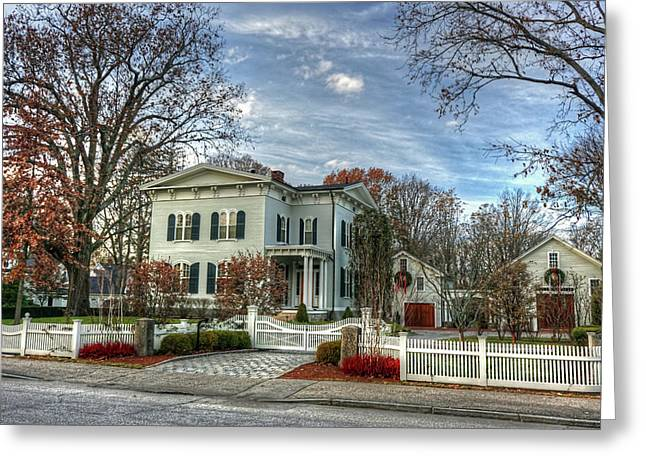 Amos Tuck House In Late Autumn Greeting Card