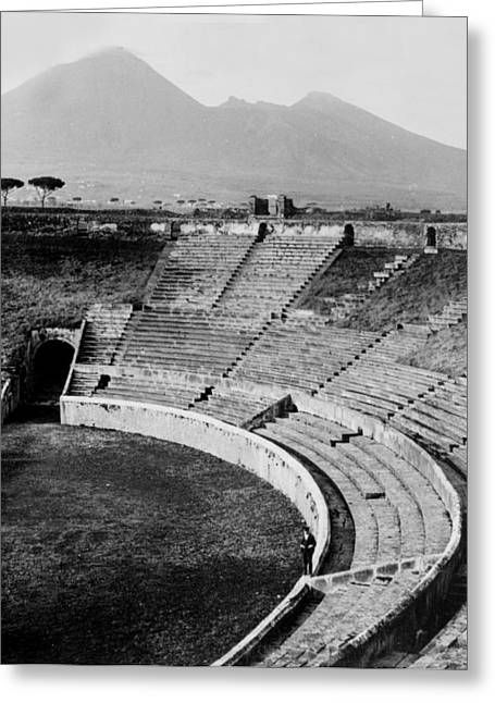 Amphitheater In Pompeii - Italy - C 1926 Greeting Card by International  Images