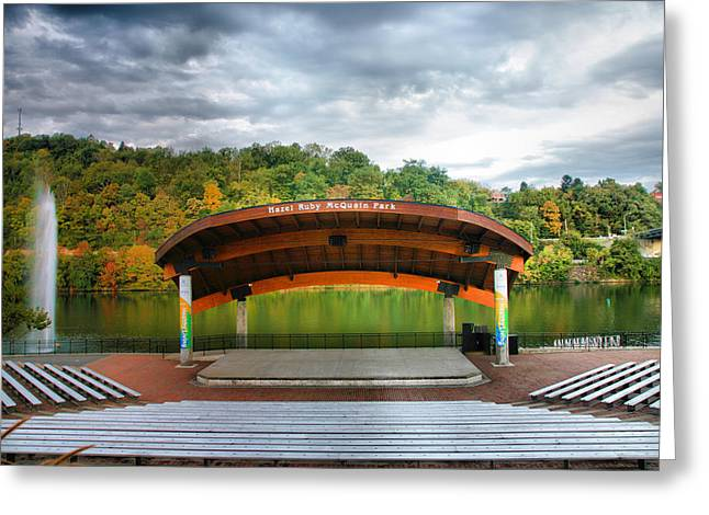 Amphitheatre On The Monongahela I Greeting Card by Steven Ainsworth
