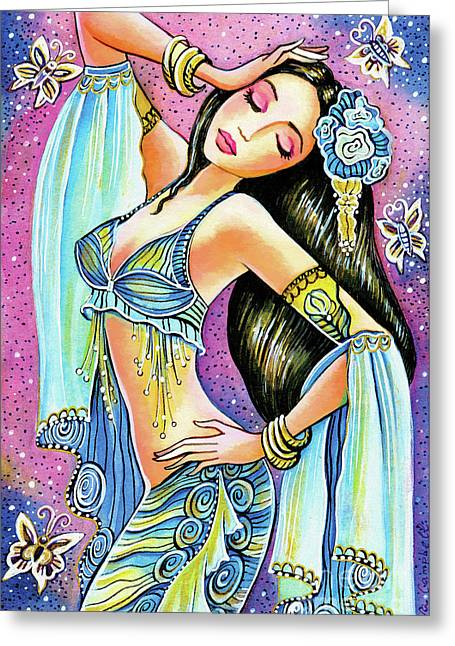 Greeting Card featuring the painting Amrita by Eva Campbell