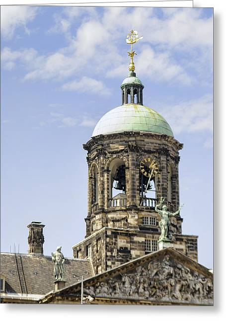Amsterdam Bell And Clock Tower Greeting Card
