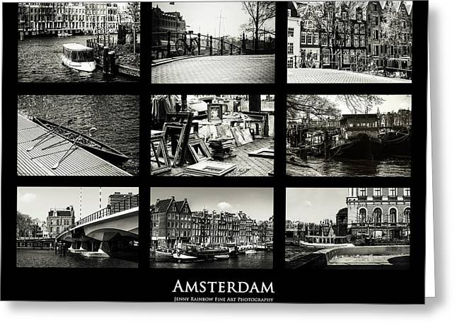 Amsterdam By Jenny Rainbow Greeting Card