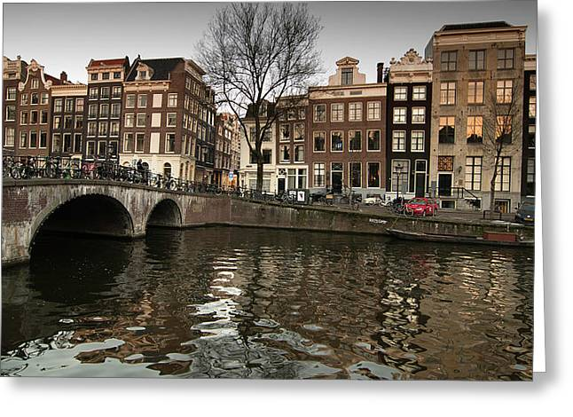 Amsterdam Canal Bridge Greeting Card