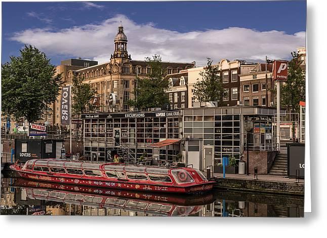 Amsterdam Canal Cruises Greeting Card