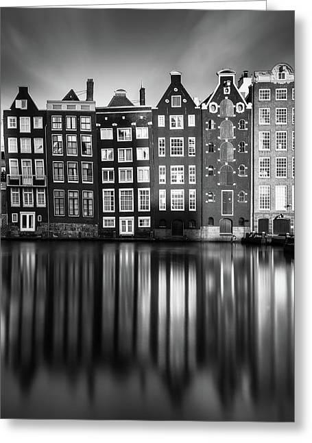 Amsterdam, Damrak II Greeting Card