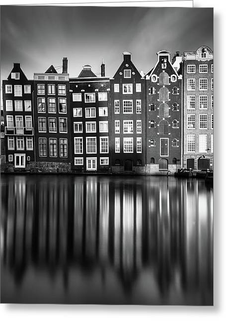 Amsterdam, Damrak II Greeting Card