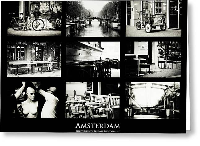 Amsterdam Mix. Amsterdam By Jenny Rainbow Greeting Card