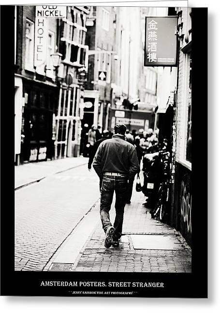 Amsterdam Posters. Street Stranger Greeting Card