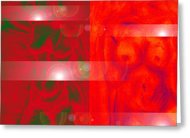 Amsterdam Red Light District Greeting Card by B and C Art Shop