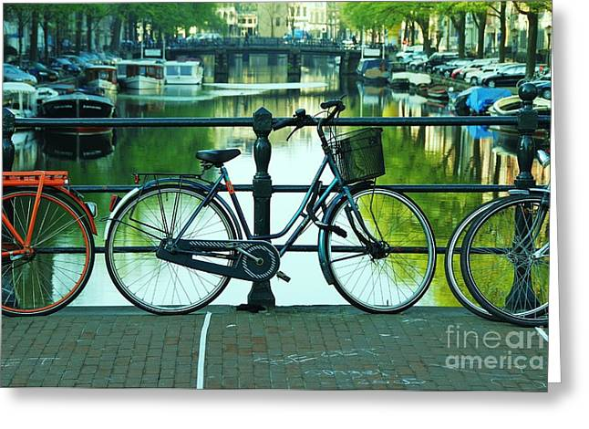 Greeting Card featuring the photograph Amsterdam Scene by Allen Beatty