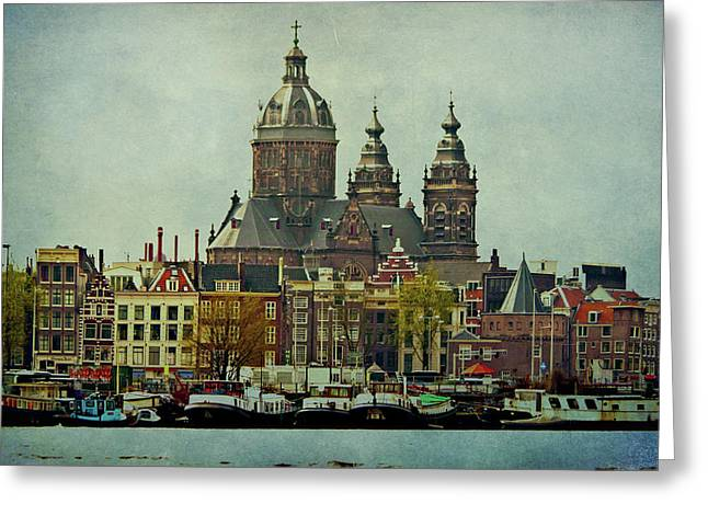 Amsterdam Skyline Greeting Card
