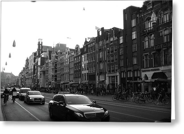 Greeting Card featuring the photograph Amsterdam Traffic 2 by Scott Hovind