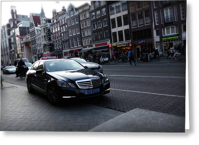 Greeting Card featuring the photograph Amsterdam Traffic 3 by Scott Hovind
