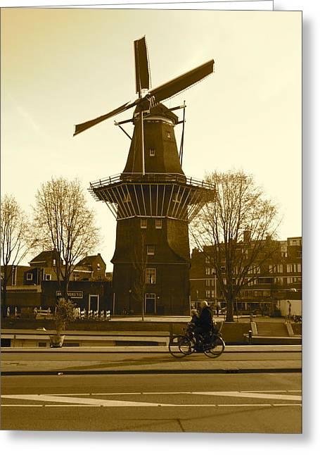 Amsterdam Windmill Greeting Card by Matthew Kennedy