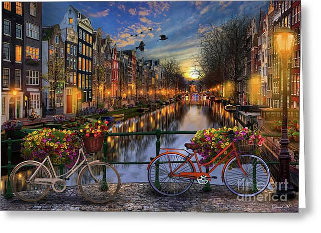 Amsterdam With Love Greeting Card