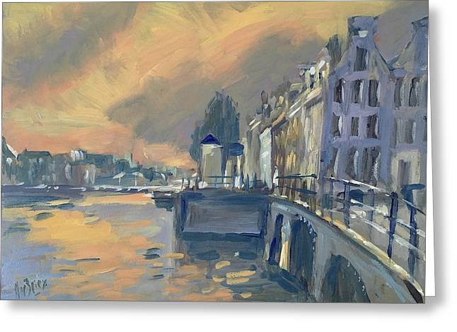 Amsterdm Morning Light Amstel Greeting Card