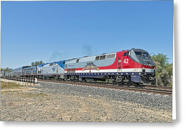 Amtrak 42  Veteran's Special Greeting Card