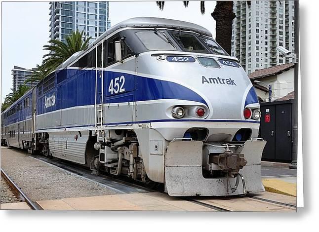 Amtrak F59 At San Diego Greeting Card