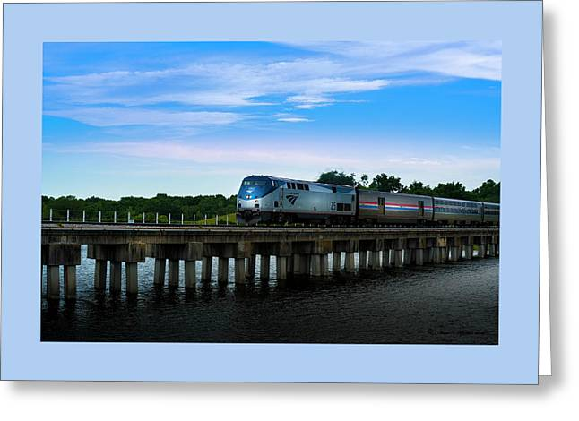 Amtrak No 25 Greeting Card by Marvin Spates